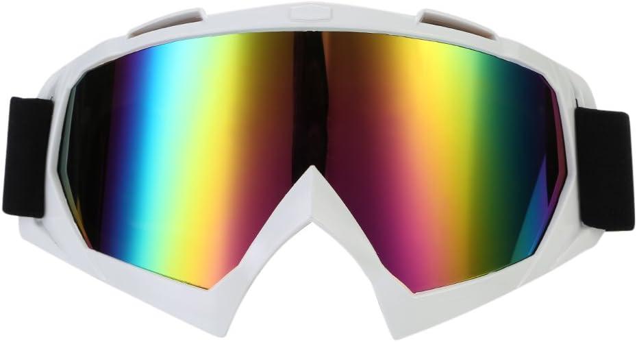 TKOOFN Motorradbrille schutzbrille Winddicht Staubschutz Brille Farbige Linse PC+TPU Materialie f/ür Stra/ßenrennen Radfahren Skifahren