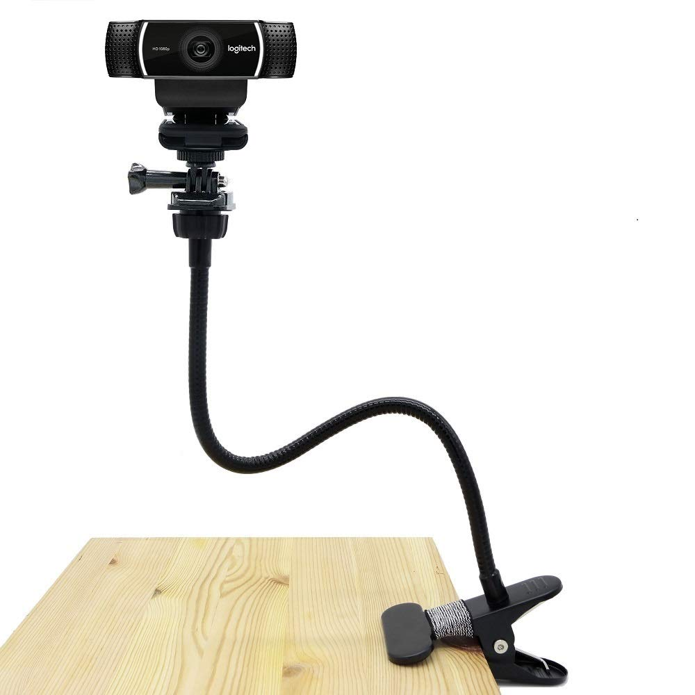 Webcam Clamp Mount, Flexible Holder Stand for Logitech Webcam Brio 4K, C925e,C922x,C922,C930e,C930,C920,C615 - Acetaken