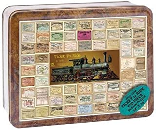product image for Channel Craft Puzzle Tin Ticket to Ride 550 Piece Jigsaw Puzzle