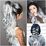 Euone Wig Clearance , Sexy Women Long Hair Black Gradient Big Wave Long