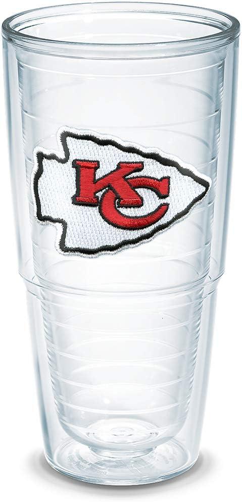 Tervis NFL Kansas City Chiefs Individual Emblem Tumbler, 24 oz, Clear - NFL-I-15-KANS