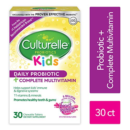 Culturelle Kids Probiotic plus Complete Multivitamin Chewable | Digestive and Immune Support*| Excellent Source of the Antioxidant Vitamins A, C, and E | Contains LGG, The proven probiotic| 30 Count