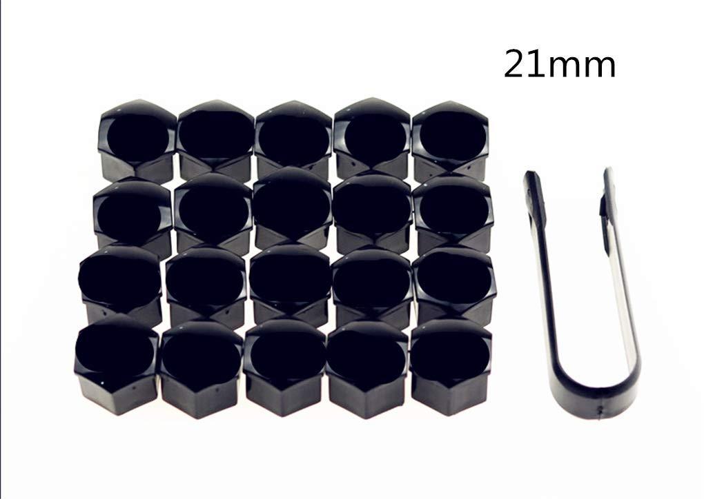 Color : Black 17mm W-Shufang,bolt 20Pcs Car Wheel Cap Auto Screw Cover Bolt Nuts Rim for Mercedes Benz GL63 GL-Class G65 G550 G350 E300 GLC GLC43 G350d EQA E43