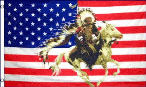 USA Indian Horse #2 Flag 3x5ft Poly