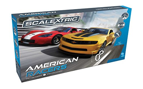 (Scalextric American Racers 1:32 Slot Car Race Track C1364T Playset)