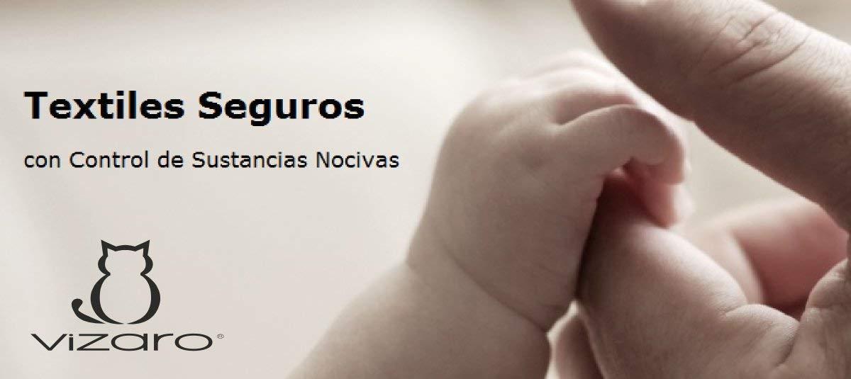certificado OekoTex sin sustancias nocivas FUNDA CAMBIADOR DE BEB/É C ALTA CALIDAD Vizaro hecho en UE S/ÁBANA AJUSTABLE 50x70 cm 100/% ALGOD/ÓN PURO B/úhos