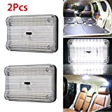 Trunk Lights - 2-Pack DC 12V 36 LED Car Truck Vehicle Auto Dome Roof Ceiling Interior Light Lamp White with On/Off Switch for Cars Vans Camper Vans & Taxis