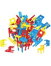 deAO Stacking Chairs Tower Balancing Game for Children - Family Board Game