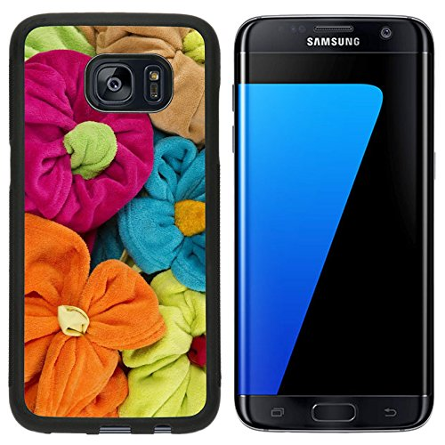 Terry Stack - Liili Samsung Galaxy S7 Edge Aluminum Backplate Bumper Snap Case stack of colored terry towel shape of a flower 28500849