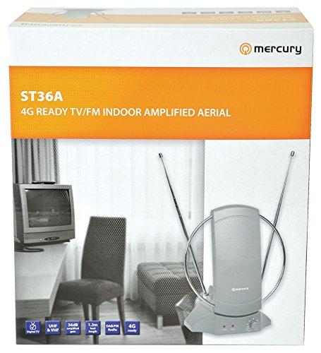 Mercury Interior amplificada TV//FM Antena con Amplificador de se/ñal y 4/G Ready