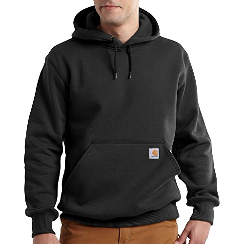 (Carhartt Men's Rain Defender Paxton Heavyweight Hooded Sweatshirt, Black,)