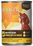 Holistic Select Grain Free Duck Pate Recipe Canned Dog - 12x13 oz