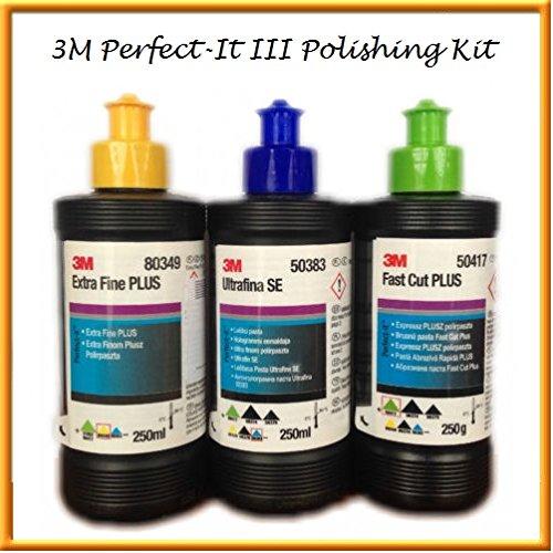 3M Perfect-it III Triple Polishing & Compounding Set Kit 3x 250g
