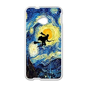 Harry Potter Abstract Art White HTC M8 case