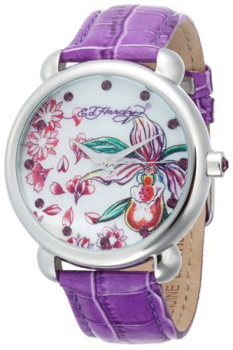 Ed Hardy Women's GN-PU Garden Purple Watch