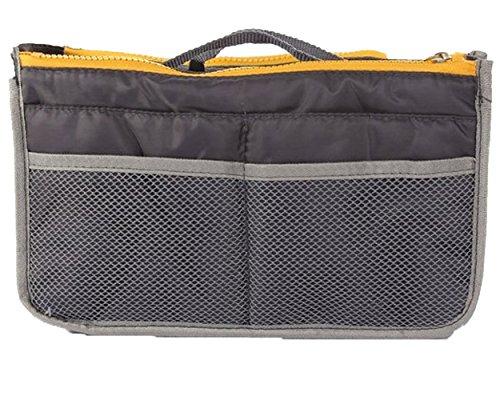 Elaxor™ Portable & Expandable 13 Pocket Handbag Insert, Cosmetic Makeup, Purse Organizer, Diaper Bag Organizer - White Reviews Dahlia