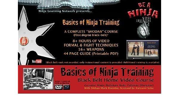DVD: Basics of Ninja Training Ninjutsu Blackbelt Video ...