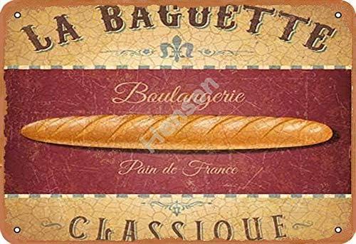 Bureau /École Garage Generic Brands La Baguette Classique Boulangerie Pain De France Plaque en t/ôle Vintage Art Peinture Fer Rouill/ée Poster D/écoration Plaque Aluminium Pour H/ôtel Caf/é