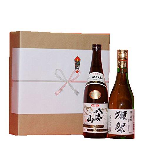 【ギフト】(プレミアム日本酒)獺祭だっさい純米大吟醸+八海山本醸造 720ml その他メッセージ覧で その他メッセージ覧で B00PJMUJAA