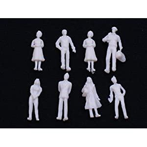 Veroda 100Pcs Model Train People Figures Scale HO TT Assorted Style