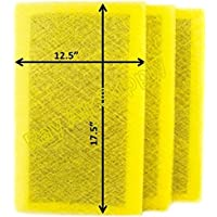 Ray Air Supply 14x20 MicroPower Guard Air Cleaner Replacement Filter Pads (3 Pack) YELLOW