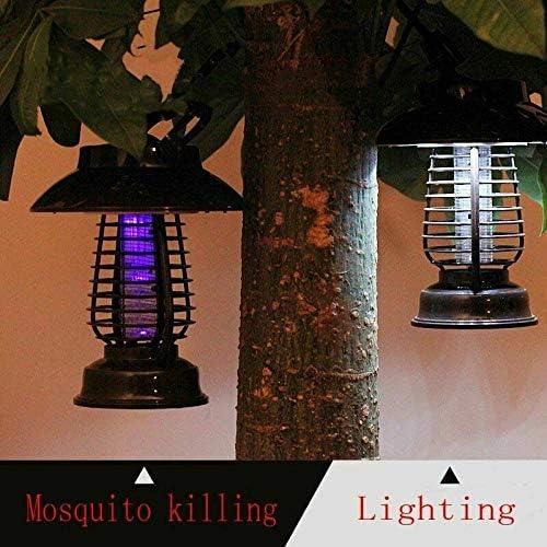 SHAOLIN Lampada Killer Ricaricabile per zanzare, Lampada Killer Elettronica Solare per zanzare, Lampada Killer, Lampada Trappola per Interni/Esterni, Protezione Ambientale