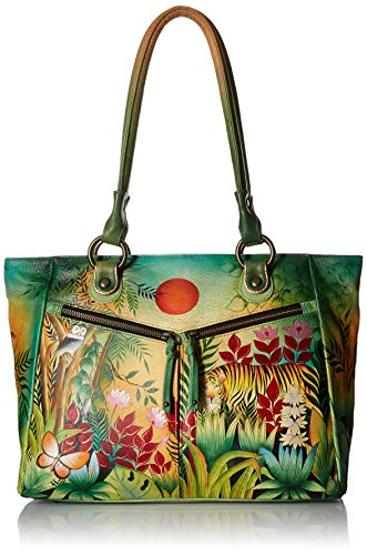 Anuschka Large Shopper with Front Pocketsrousseau's Jungle, Rsj/Rousseau's Jungle by ANUSCHKA (Image #1)