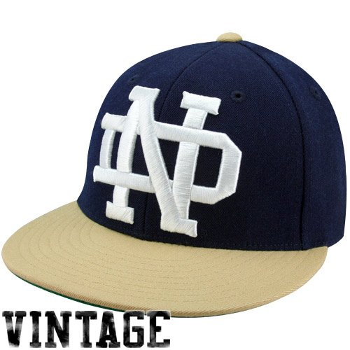 60790a2b44a NCAA Mitchell   Ness Notre Dame Fighting Irish Vintage XL Logo Two-Toned  Fit.