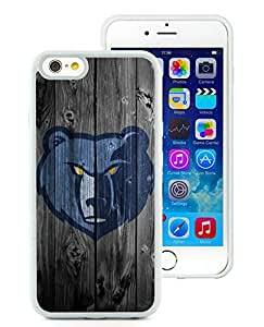 New Custom Design Cover Case For iPhone 6 4.7 Inch Memphis Grizzlies 3 White Phone Case