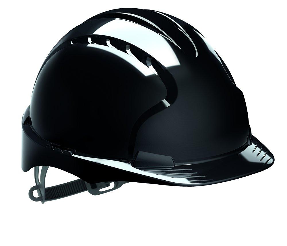 JSP ajf030 - 001 - 100 EVO2 - Casco de seguridad con trinquete, con ranuras de ventilación, color negro: Amazon.es: Industria, empresas y ciencia