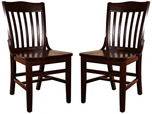 Beechwood Mountain BSD-2S-W Solid Beech Wood Side Chair in Walnut for Kitchen (Beechwood Dining Chair)