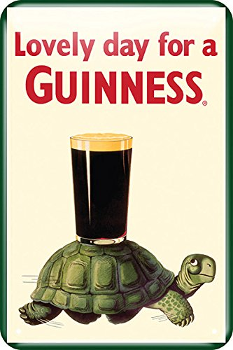 Guinness Metal Sign With Guinness Tortoise Design (20Cm X 30Cm) -