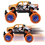 Jellydog Toy Monster Truck, Pull Back Vechile, Metal Friction Powered Monster Jam Cars, Big Wheel Buggy, 1:30 Scale Die Cast Vehicle, Shock Springs Toys car for boys toddler, Orange