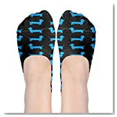 Cute Dachshunds Colorfu Women No-Show Casual Liner Socks Low Cut Ankle Socks Boat Socks