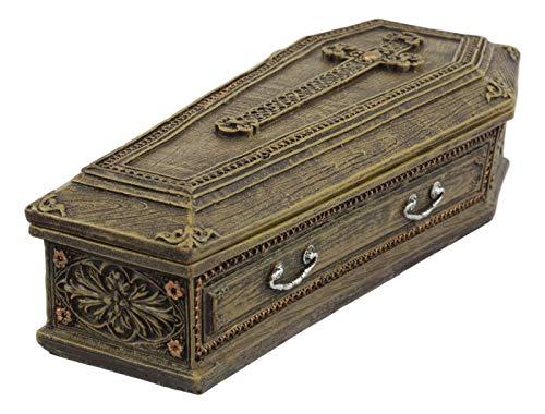 K&N35 Indoor Storage Trinket Jewelry Box Décor Vampire Coffin Dracula Casket Figurine Statue Decorative Collectible Decoration Container Home Storage Organizer Decor