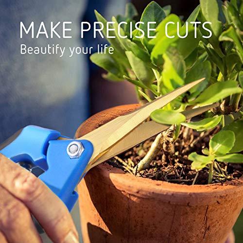 VIVOSUN Gardening Hand Pruner Pruning Shear with Titanium Coated Curved Blades