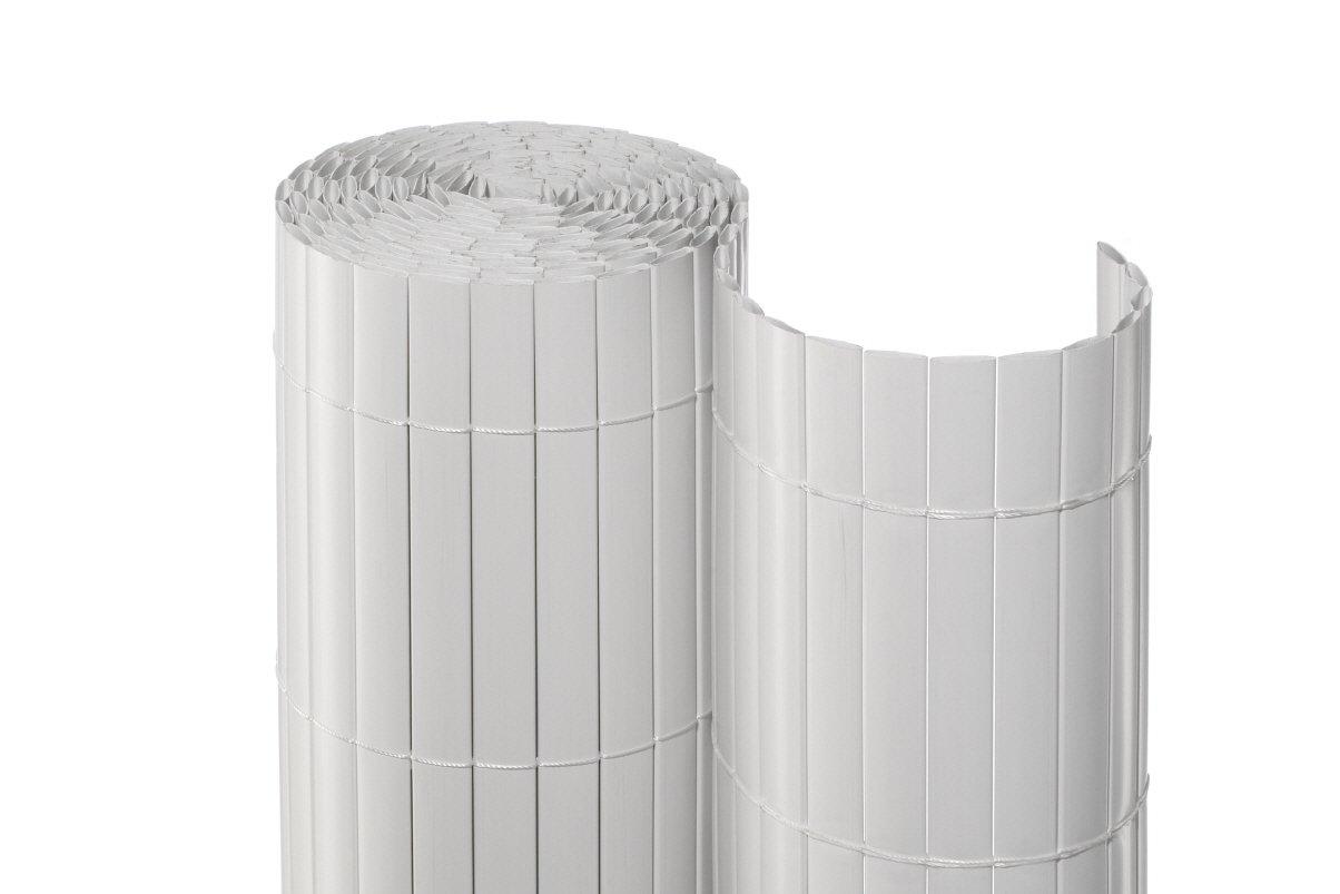 Noor Sichtschutzmatte PVC Weiß 0 90 x 3 m Amazon Garten