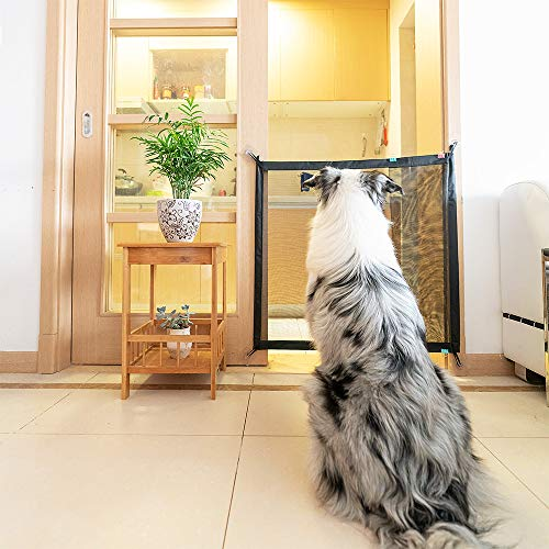 Magic Gate for Dogs Pet Safety Enclosure Portable Folding Guard Safety Enclosure,Baby Safety Fence,Magic Gate As Seen On TV(W:39.4in H:29.5in) … by ROSE RAIN (Image #1)