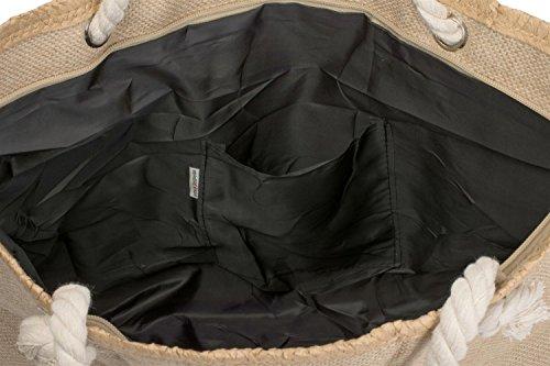 styleBREAKER - Bolso cruzados para mujer marrón Marrón-Rosado talla única marrón/plateado
