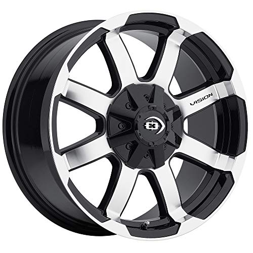 - Vision 413 Valor Gloss Black Machined Face Wheel with Machined Finish (16x6.5