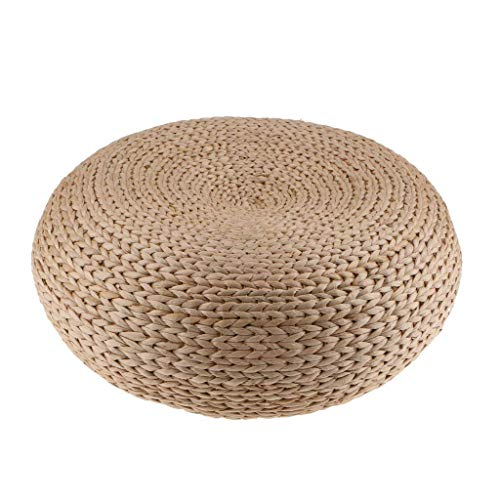 HUAWELL Japaness Style Straw Futon Knitted Round Seat Cushion Dia. 40cm(15.75