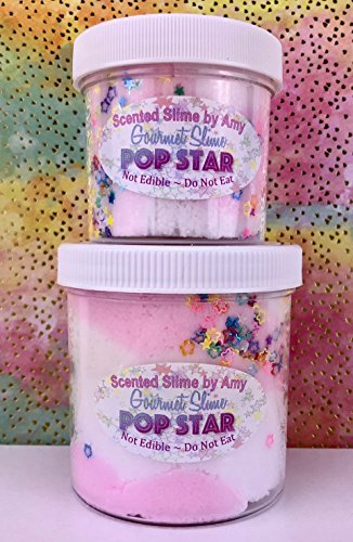 Pop Star Cloud Slime - 3 oz (Lollipops White Swirled)