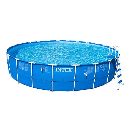 24 ft. Round x 52 in. Deep Metal Frame Above Ground Pool Set