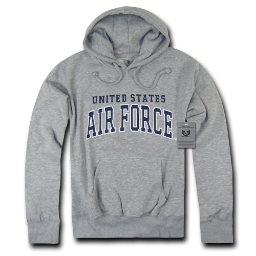 Rapiddominance Air Force Pullover Hoodie, Heather Grey, X-Large