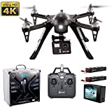 CYBER MONDAY! Contixo F17+ RC Quadcopter Photography Drone 4K Ultra HD Camera 16MP, Brushless Motors, 2 High Capacity Batteries, Supports GoPro Hero Cameras, Aluminum Hard Case