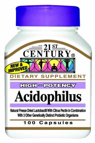 21st Century Acidophilus Capsules, 100 Count (Pack of 2)