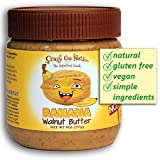 Crazy Go Nuts Flavored Walnut Butter & Healthy Snacks: Gluten Free, Vegan, Low Carb, Non GMO + Keto Snacks, 9oz - Banana