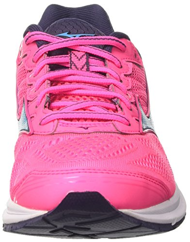 Running 23 Graystone 21 Rider Mizuno Aquarius Black WOS Pinkglo Shoes Wave Pink Women's UpRqg1