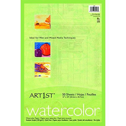 PACON CORPORATION ART1ST WATERCOLOR PADS 12 X 18 (Set of 6)