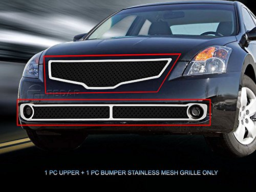 (Fedar Dual Weave Mesh Grille for 2007-2009 Nissan Altima Sedan)